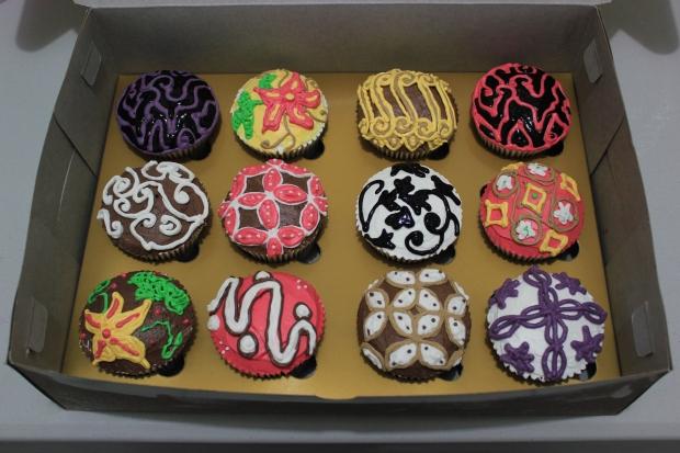 batik cupcake